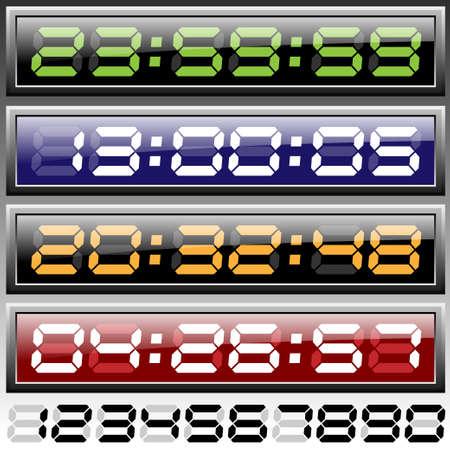 digital clock Stock Vector - 13481480