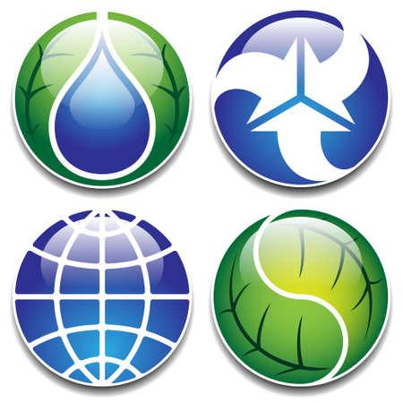 application recycle: ecology symbols set