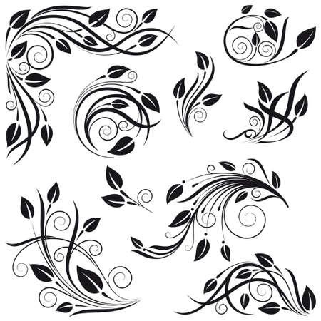 calligraphie chinoise: �l�ments de d�coration florale