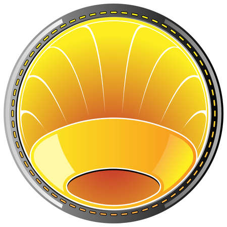 amber badge Vector