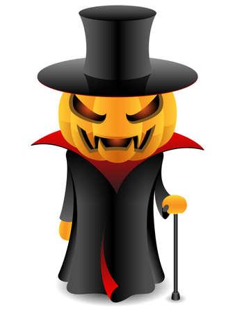 slicker: halloween vampire pumpkin Illustration