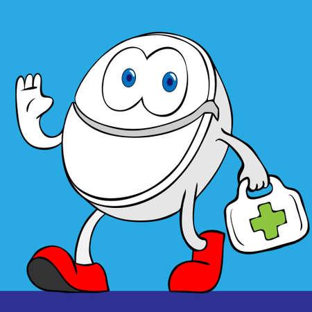 happy pill Illustration