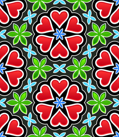 hearts seamless pattern Stock Vector - 13481595