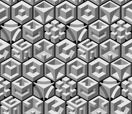 square detail: abstract 3d seamless pattern