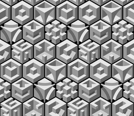 square detail: modelo abstracto sin fisuras 3d