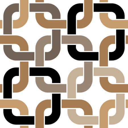 brown twisted rings seamless pattern Illustration