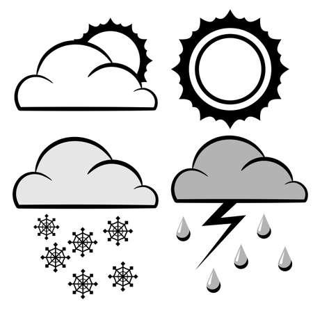 meteorology: meteorology weather conditions icons set Illustration