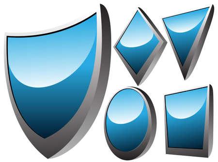 mirror badges set Vector