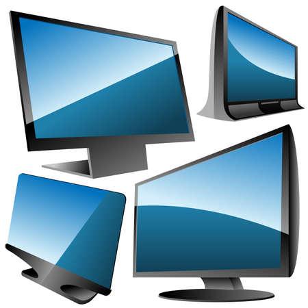 monitors set Vector