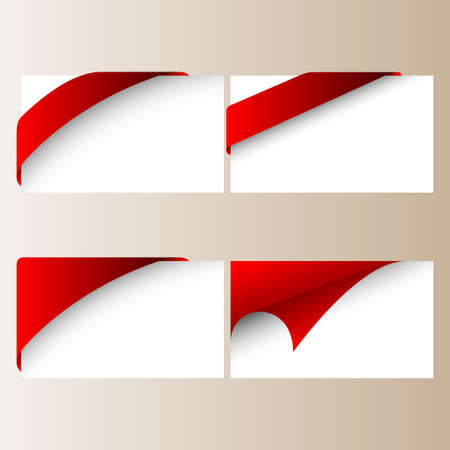 signboard design: corner ribbon set