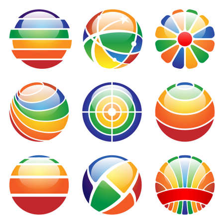 glossy abstract design elements Stock Vector - 13481785