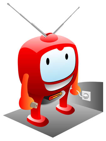 television aerial: smart tv set