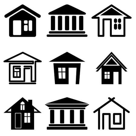 house icons set Stock Vector - 13481697