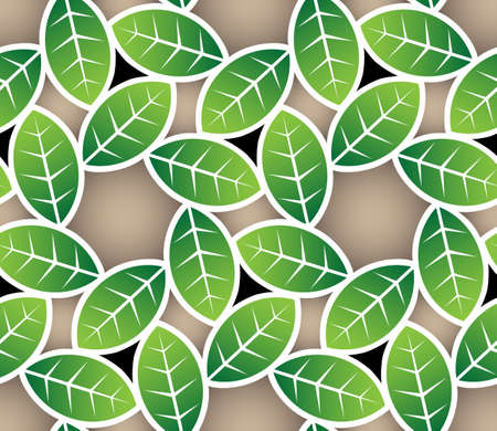 leaves seamless pattern Stock Vector - 13481709