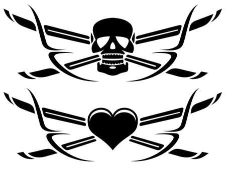 leven en dood: leven en dood tatoeages