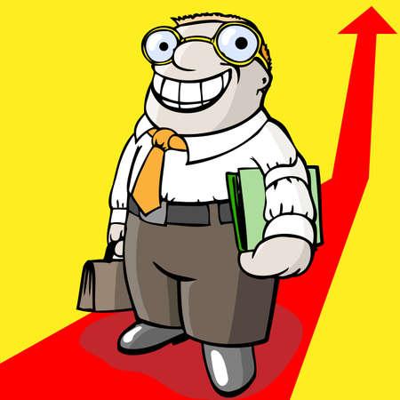 bureaucrat: successful manager Illustration