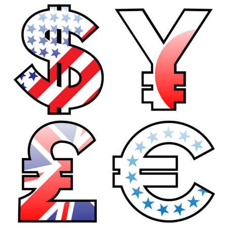 geld: munt geld tekenen Stock Illustratie