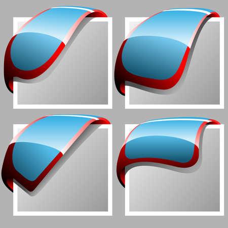 corner ribbons Stock Vector - 13481823