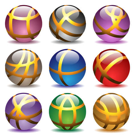 speech icon: glass balls
