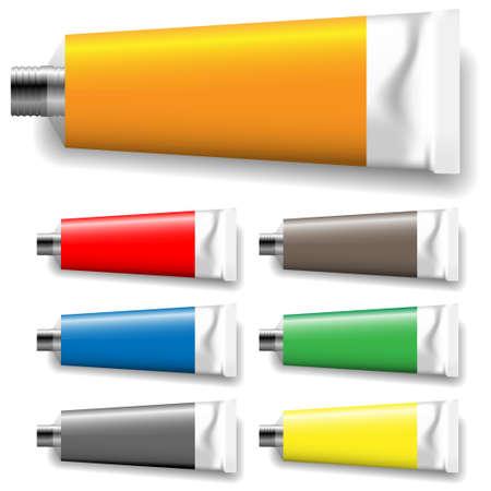 paint tube: paint tubes Illustration