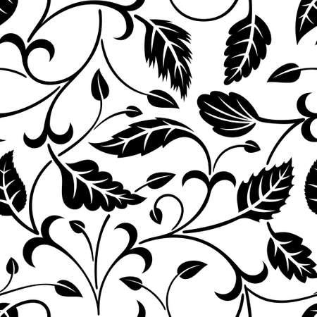 foliate: floral seamless pattern Illustration