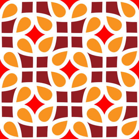 flores vintage: abstract seamless pattern Illustration
