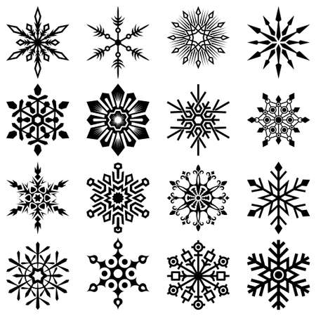 snowflake set Stok Fotoğraf - 13543577