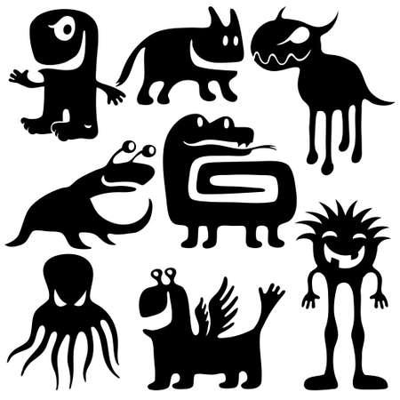 strange creatures Vector