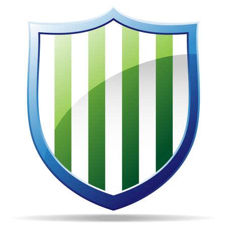 striped badge Stock Vector - 13543593