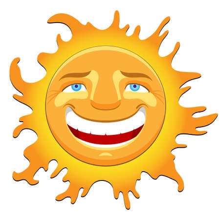 cheerful sun Stock Vector - 13543657