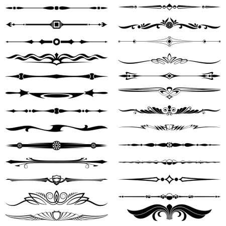 divisor de texto los elementos de diseño de decoración
