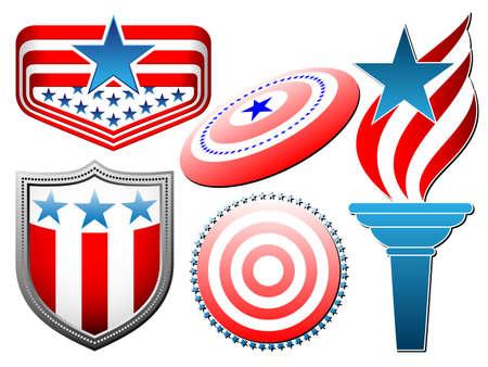 american symbolics set Vector