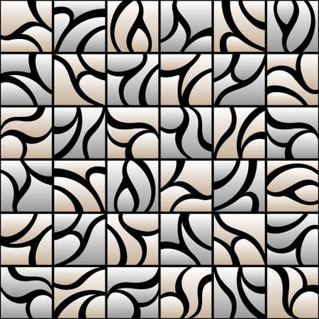 geometrical: vitrage seamless pattern