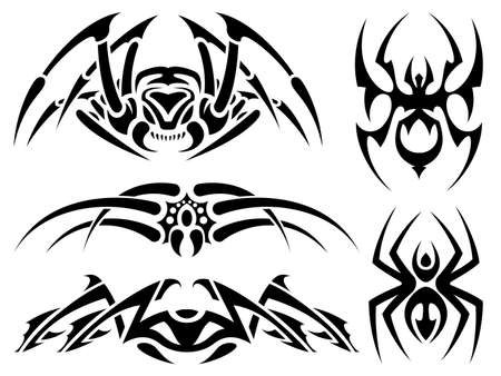 spider tattoos Stock Vector - 13543666