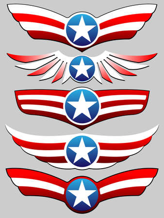 stars and stripes riband set Stock Vector - 13543668