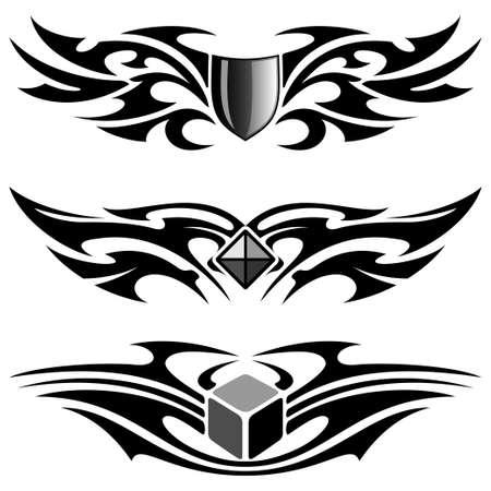 tattoo set Stock Vector - 13543664
