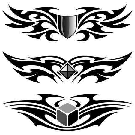 wing figure: tattoo set
