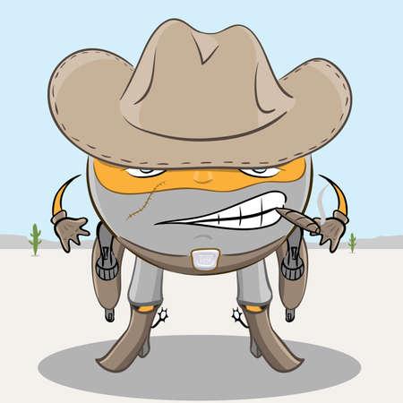 bandits: wild west scarface ball Illustration
