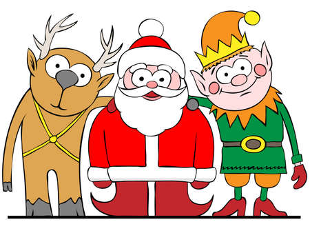 santa and friends Stock Vector - 13543741
