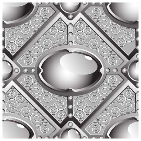 ornament  jewellery: gems seamless pattern Illustration