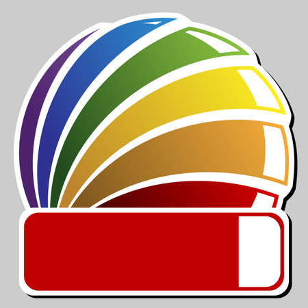 rainbow badge Vector