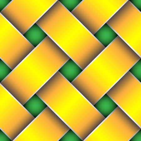 plaited: yellow bound ribbons seamless pattern