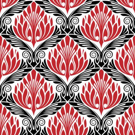 baroque border: damasc seamless pattern