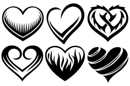 heart tattoos Stock Vector - 15239076