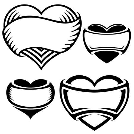 heart tattoos Stock Vector - 15239078