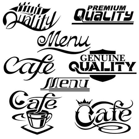 textual: textual design elements  Collection of Premium Quality, cafe and menu textual designs