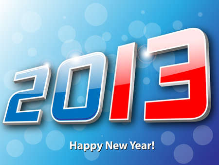 happy new 2013 year abstract background Stock Vector - 15238589