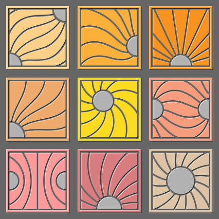 curve line: abstract design elements Illustration
