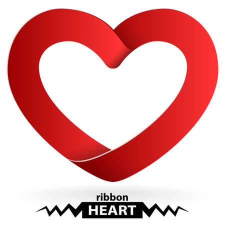heart shape ribbon Stock Vector - 15238582