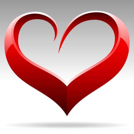heart clipart: heart shape object